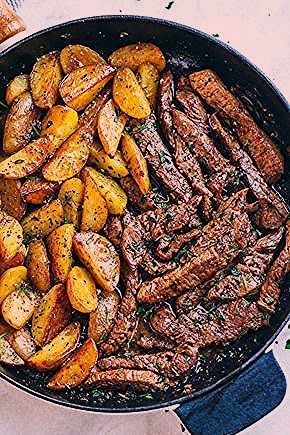 Photo of Garlic Butter Steak and Potatoes Skillet