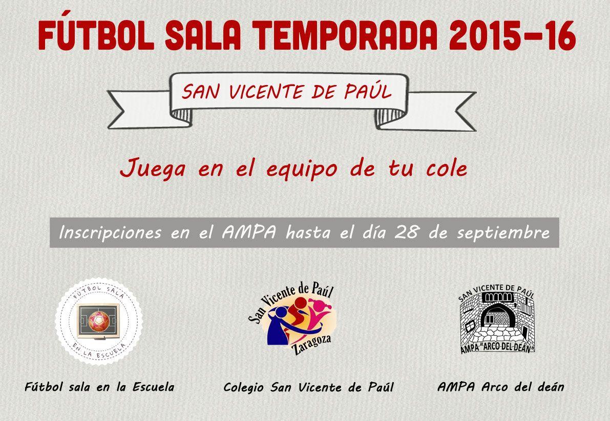 Cartel Fútbol Sala 2015-16