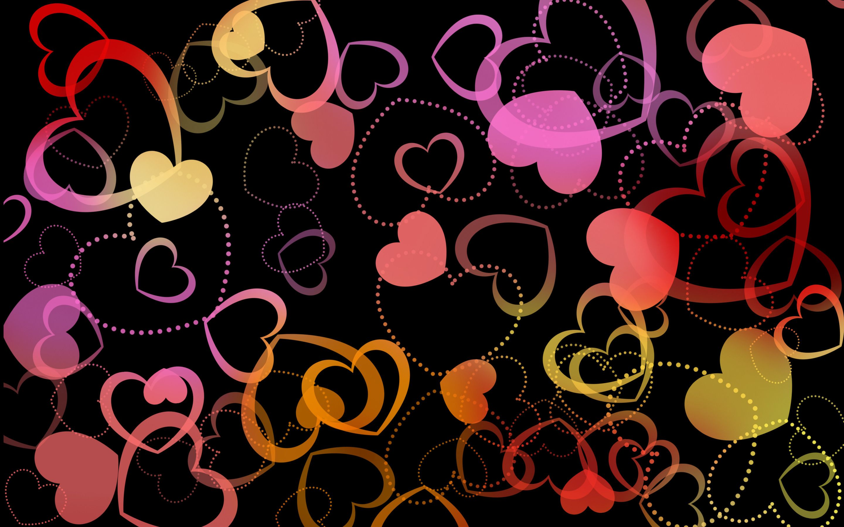 Colorful Hearts Holiday Hd Wallpapers