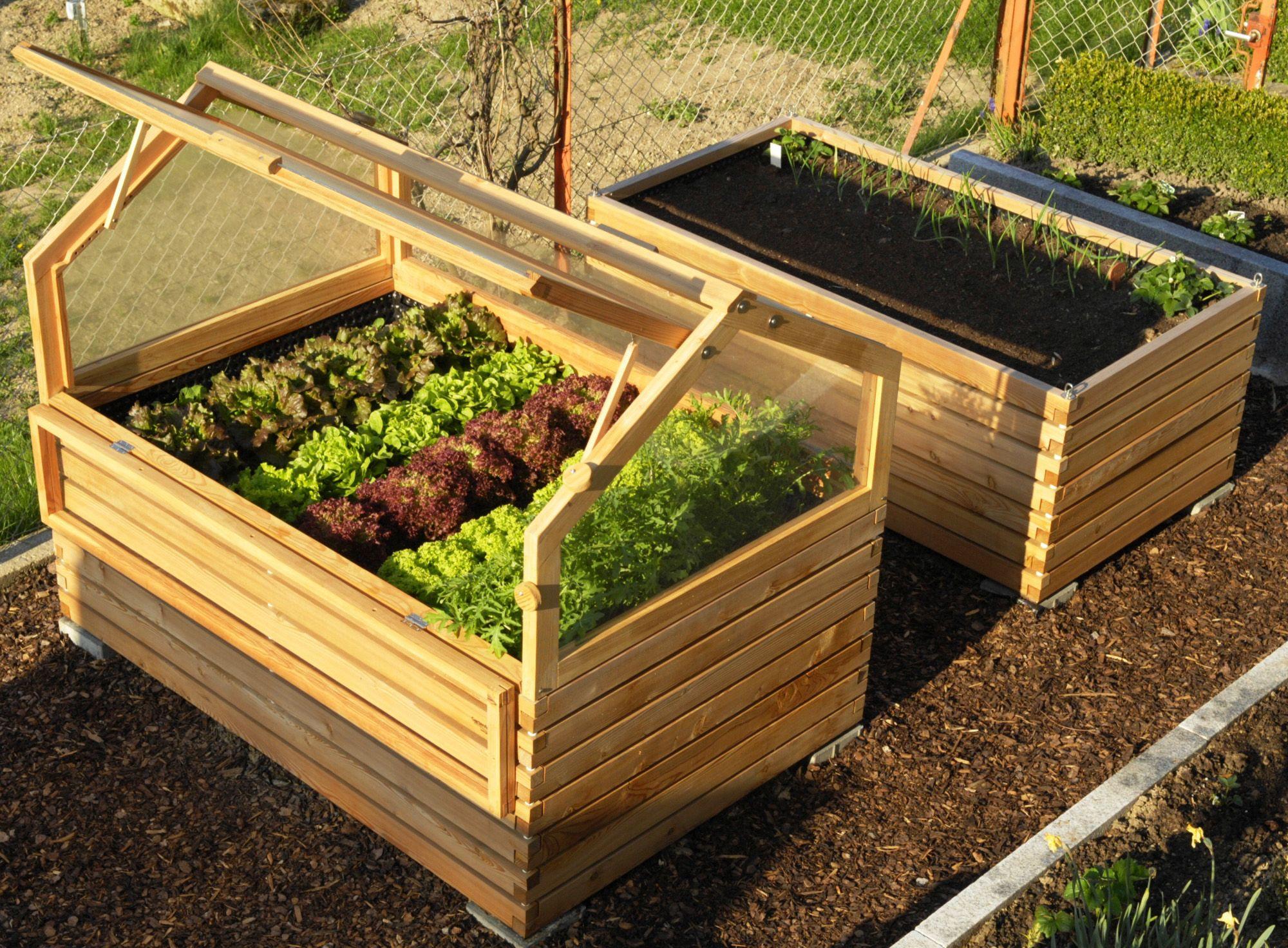 Hochbeet 180×120 mit Frühbeet kombiniert | Garden ideas and Gardens