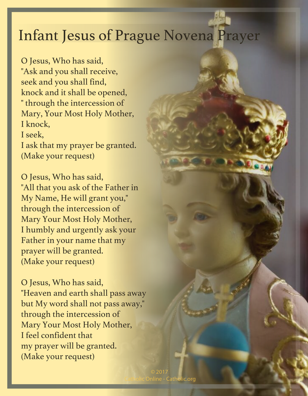 Infant Jesus of Prague Novena Prayer (PDF) FREE Ship 49