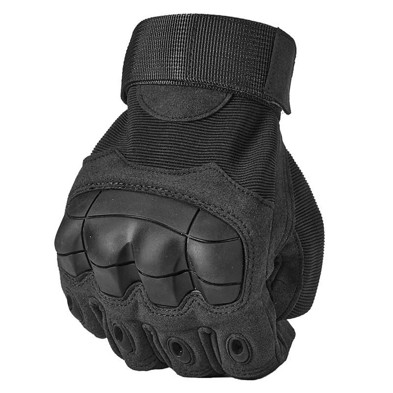 Guantes Guantes de Mujer Guantes Moto Full Finger Tactical Army Gloves Military Paintball Shooting Airsoft Bicycle Combat PU Leather Touch Screen Rubber Hard Knuckle