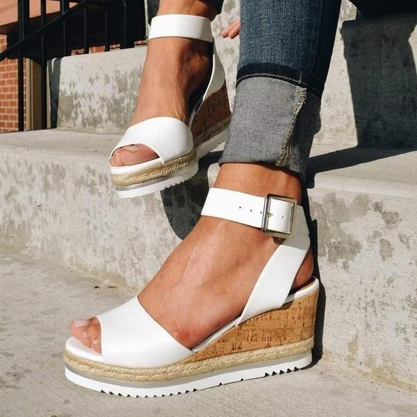 Wedge sandals, Platform wedge sandals