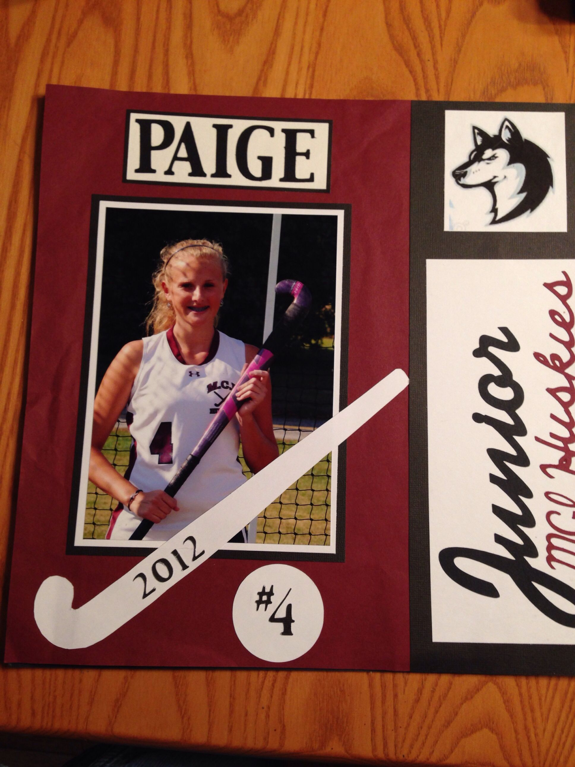 Homecoming Field Hockey Scrapbook Poster Sports Field