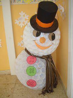C mo hacer un mu eco de nieve con vaso de pl stico - Manualidades con vasos de plastico ...