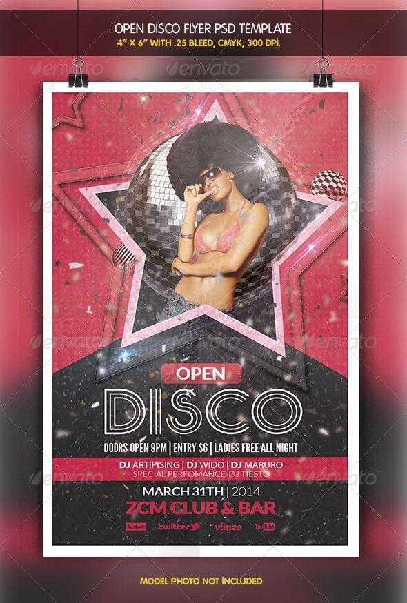 Open Disco  Party Flyer  Disco Party Party Flyer And Discos