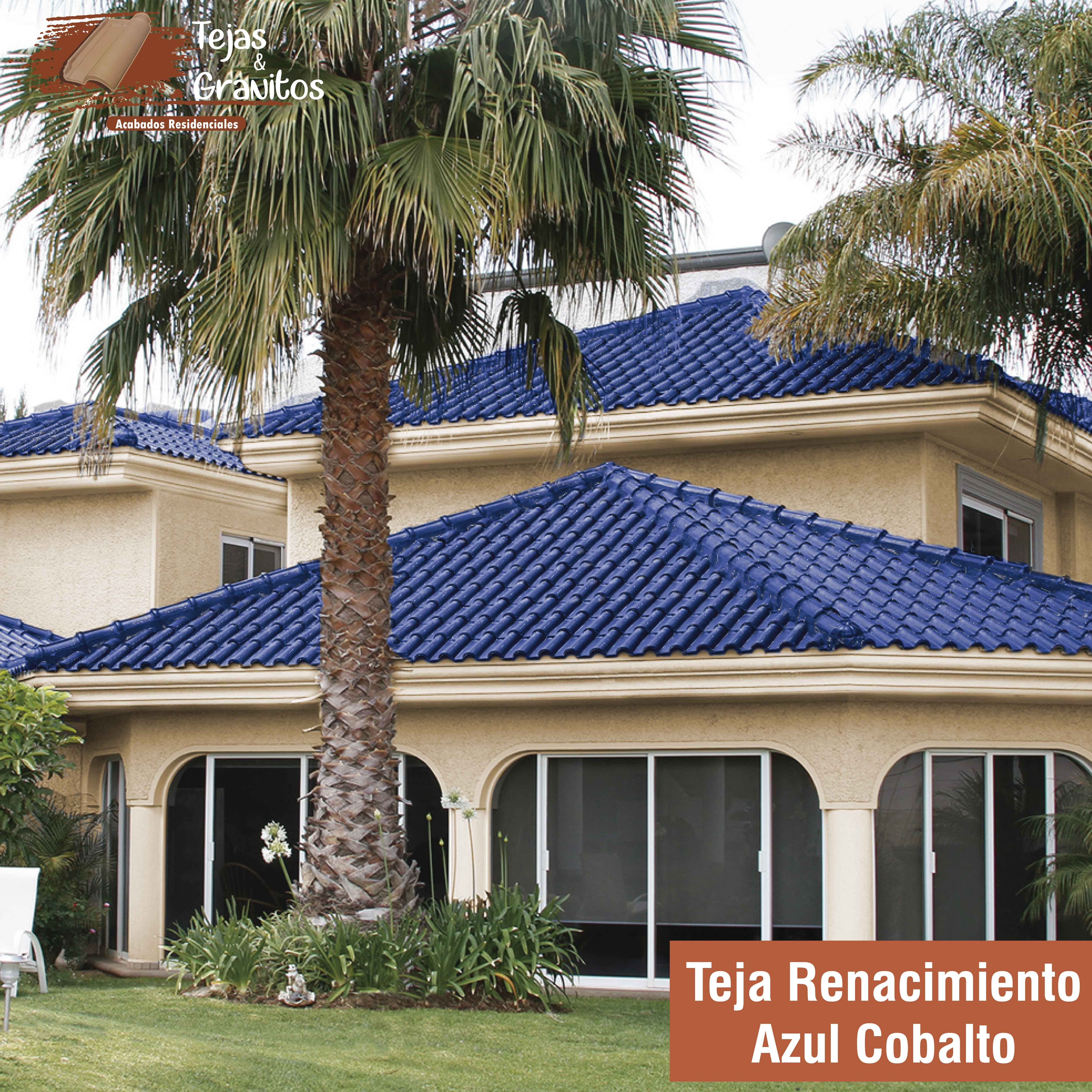 Teja Renacimiento Azul Cobalto Casas Con Tejas Casas De Estilo Colonial Casas Coloridas