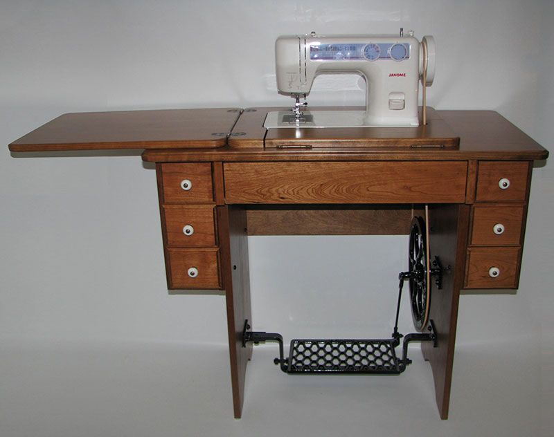 Amish Reproduction Treadle Sewing Cabinets will fit newer Janome ...