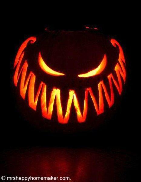 Comment sculpter une citrouille elle table f ter halloween citrouille halloween - Citrouille effrayante ...
