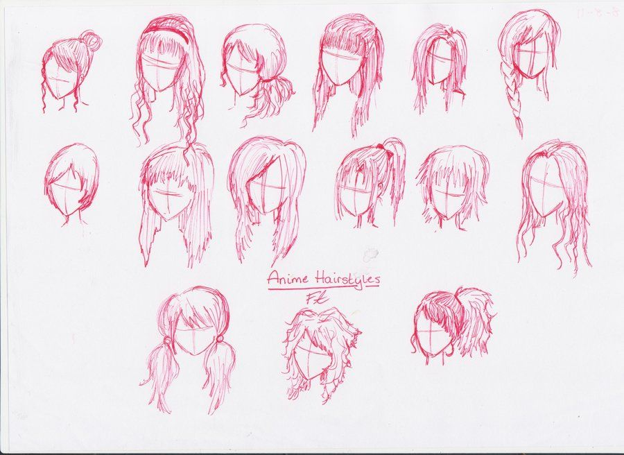 Anime Girl Hairstyles Drawings Long Short 18976station.jpg ...
