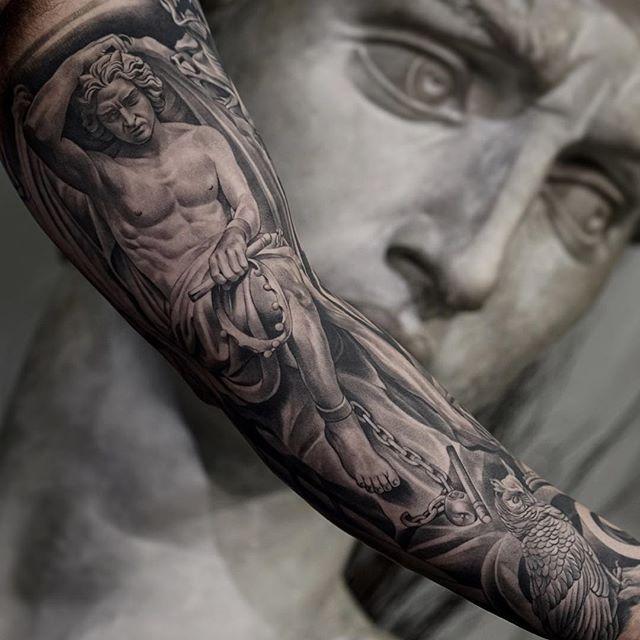 0af3f415821ba Jun Cha @Monarc Studioa   tattoo sleeve   Hyper realistic tattoo ...