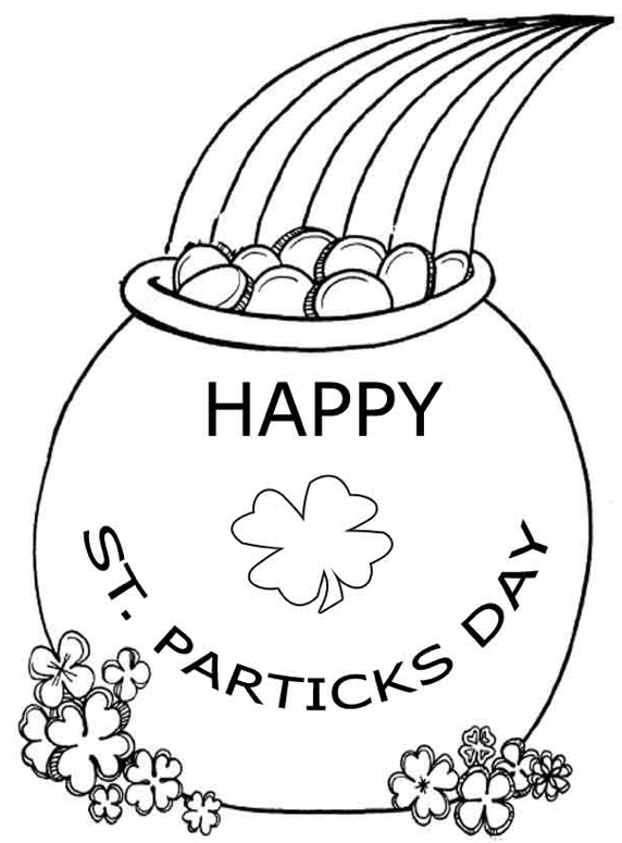 Pot Of Gold Coloring Pages Best Coloring Pages For Kids St Patricks Day Crafts For Kids St Patrick S Day Crafts St Patricks Crafts