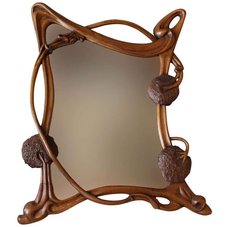 French Art Nouveau Wall Mirror From A Unique Collection Of