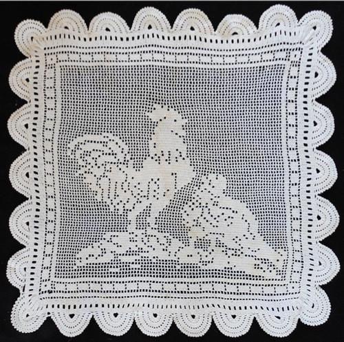 Vintage Filet Rooster & Hen Crochet Pattern   Pinterest   Vendimia ...
