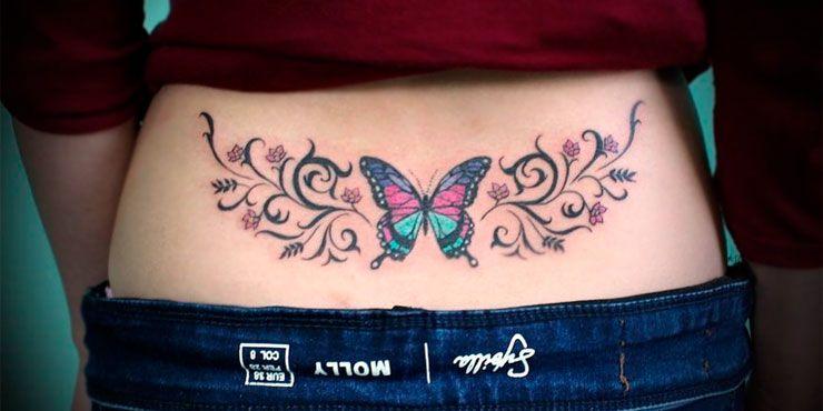 10 Mariposas en la espalda tatuajes
