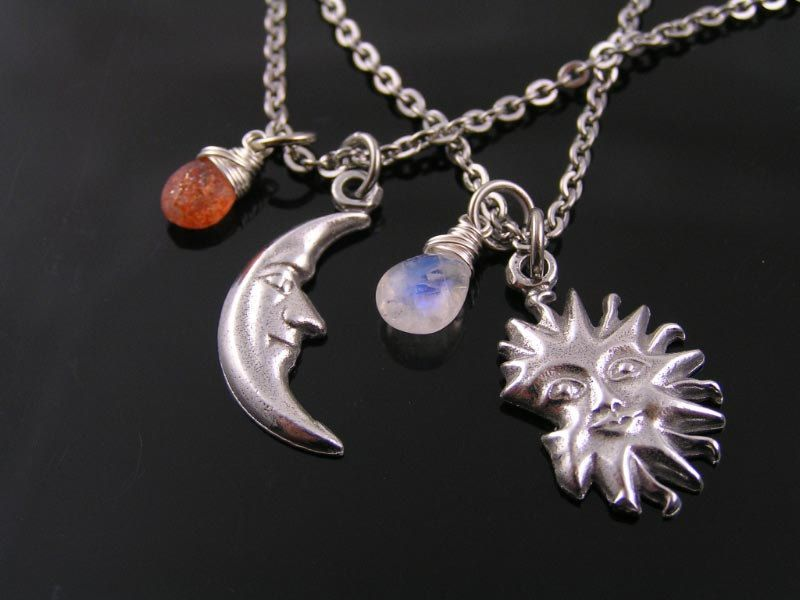 matching couple necklaces matching sun and moon necklace