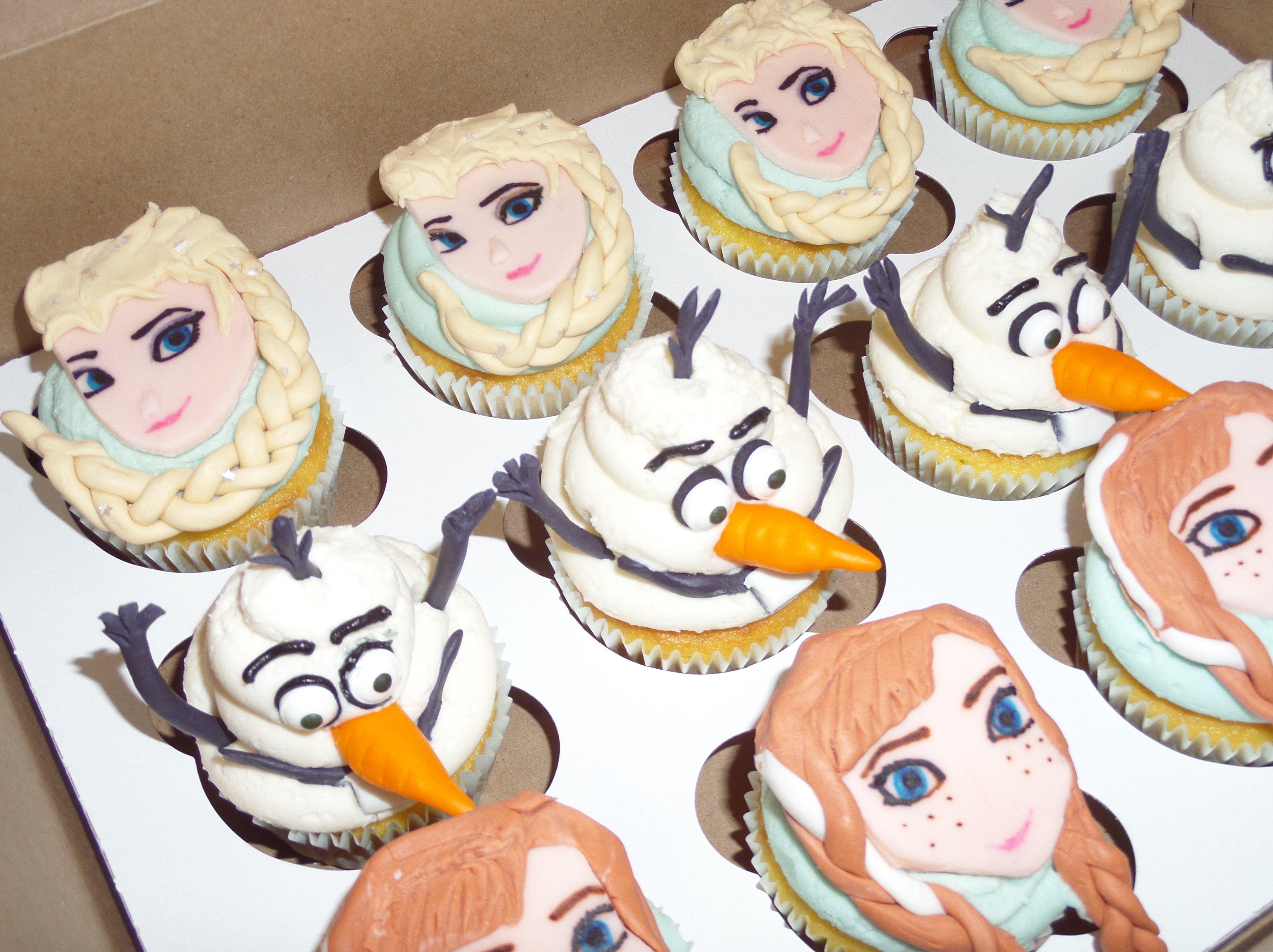 Frozen Cupcakes Elsa Olaf Anna