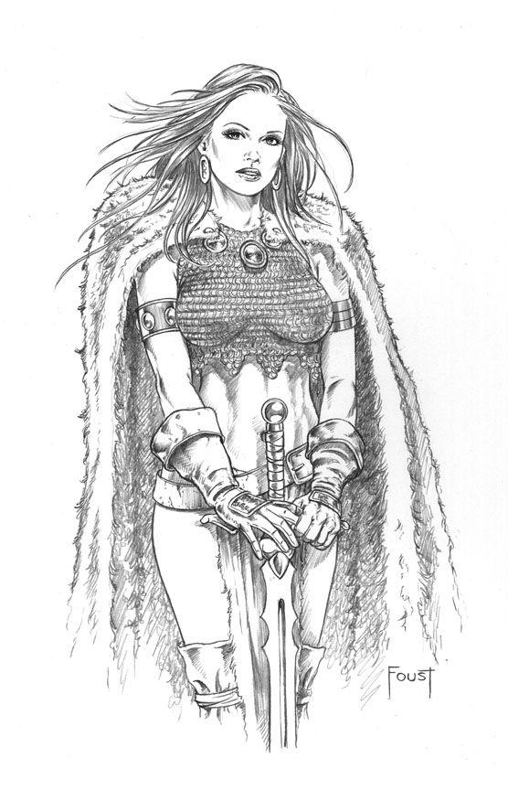 Valkyrie Maiden By Mitchfoust Draw Desenhos A Lapis Desenhos