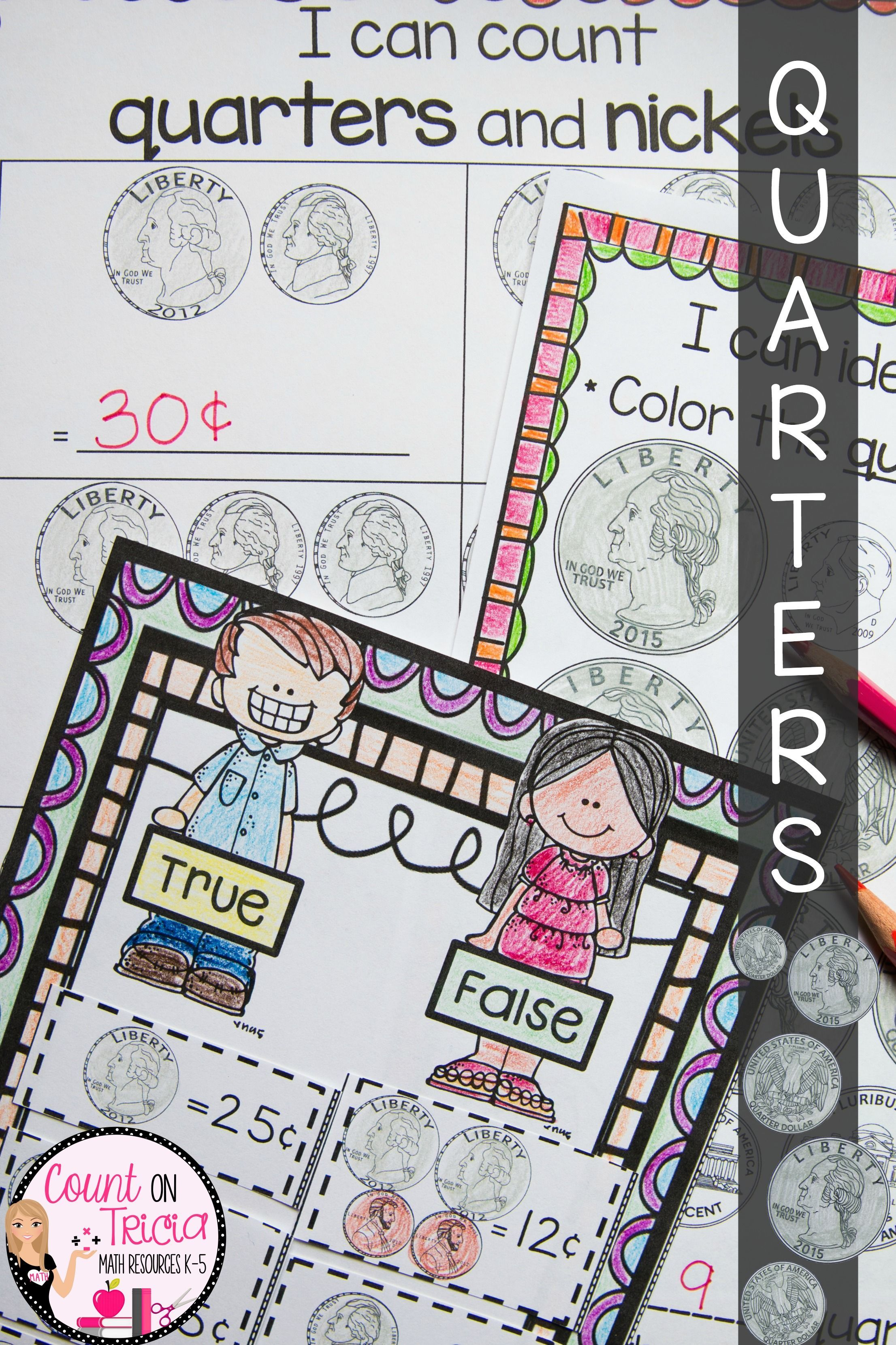 Counting Quarters Activities For Kids With These Engaging