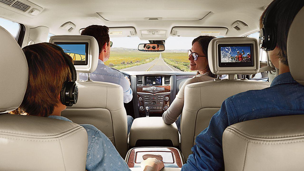 Car interior entertainment - 2017 Nissan Armada Interior Entertainment System Pics
