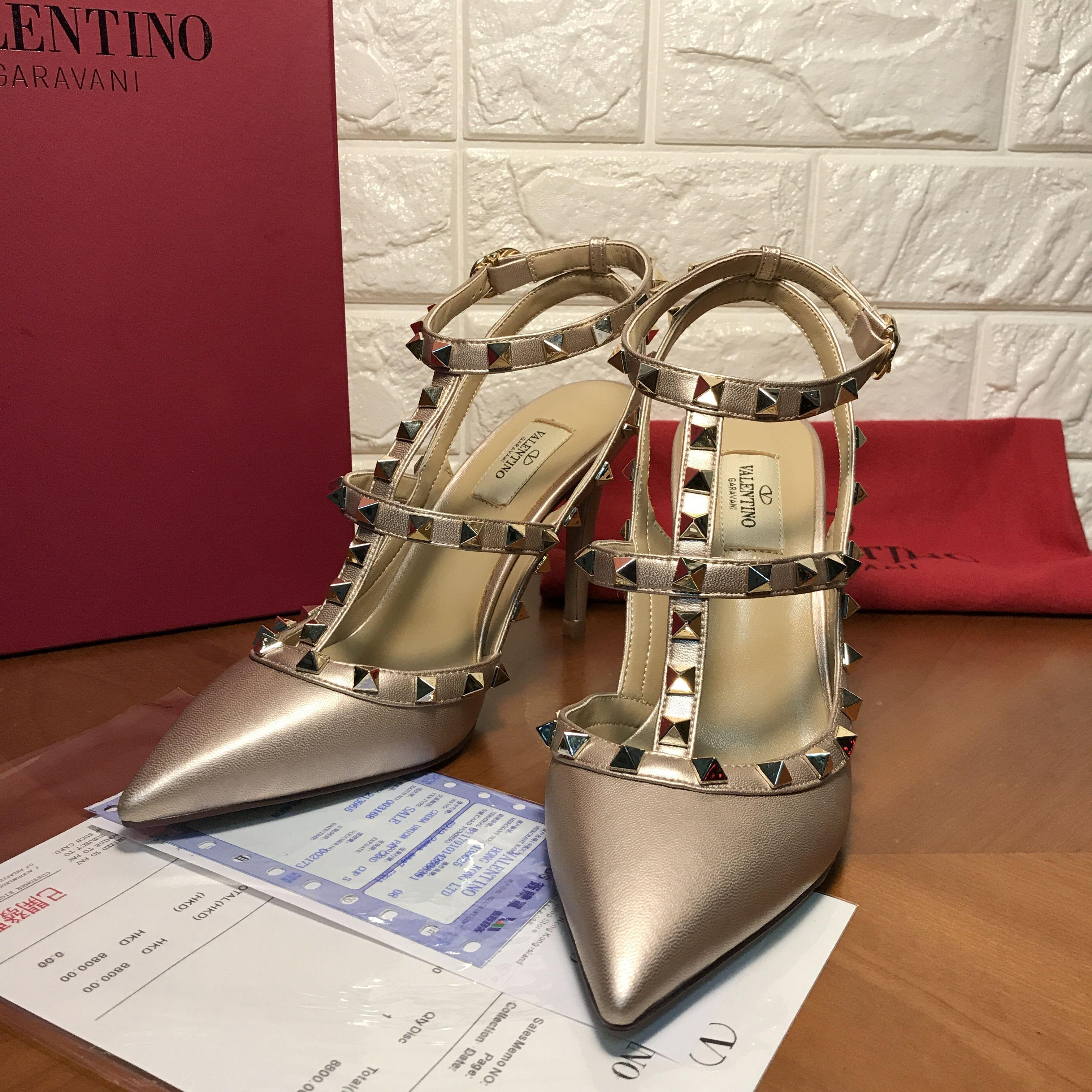 Valentino Women Rockstud High-Heel Sandals (VL-SH-A420