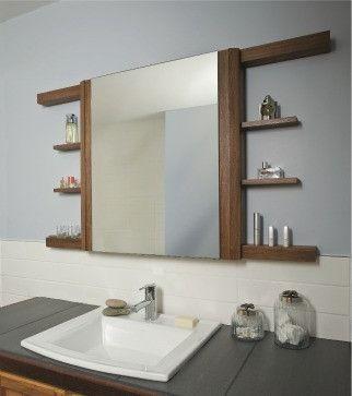Miroir mural Miroir de Salle Avec Armoire flurspiegel miroir bambou Salle de Bain Miroir