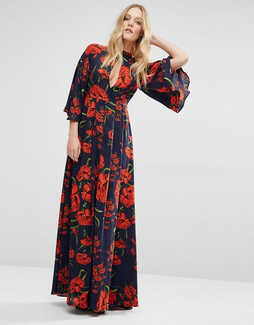 Y.A.S   Y.A.S Nehmat Queen Maxi Dress with Kimono Sleeve at ASOS ...