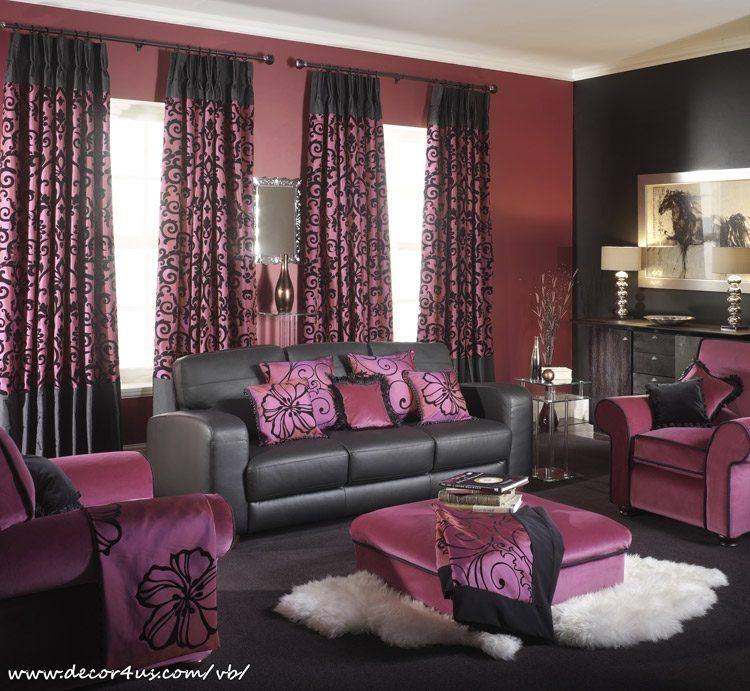 Purple Black And Silver Living Room Ideas Purple Living Room Contemporary Living Room Furniture Living Room Wall Units