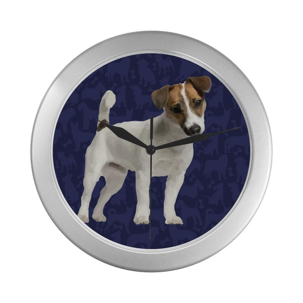 1f0c0a7c1ff8  TeeAmazing -  e-joyer Tenterfield Terrier Dog Silver Color Wall Clock -  AdoreWe