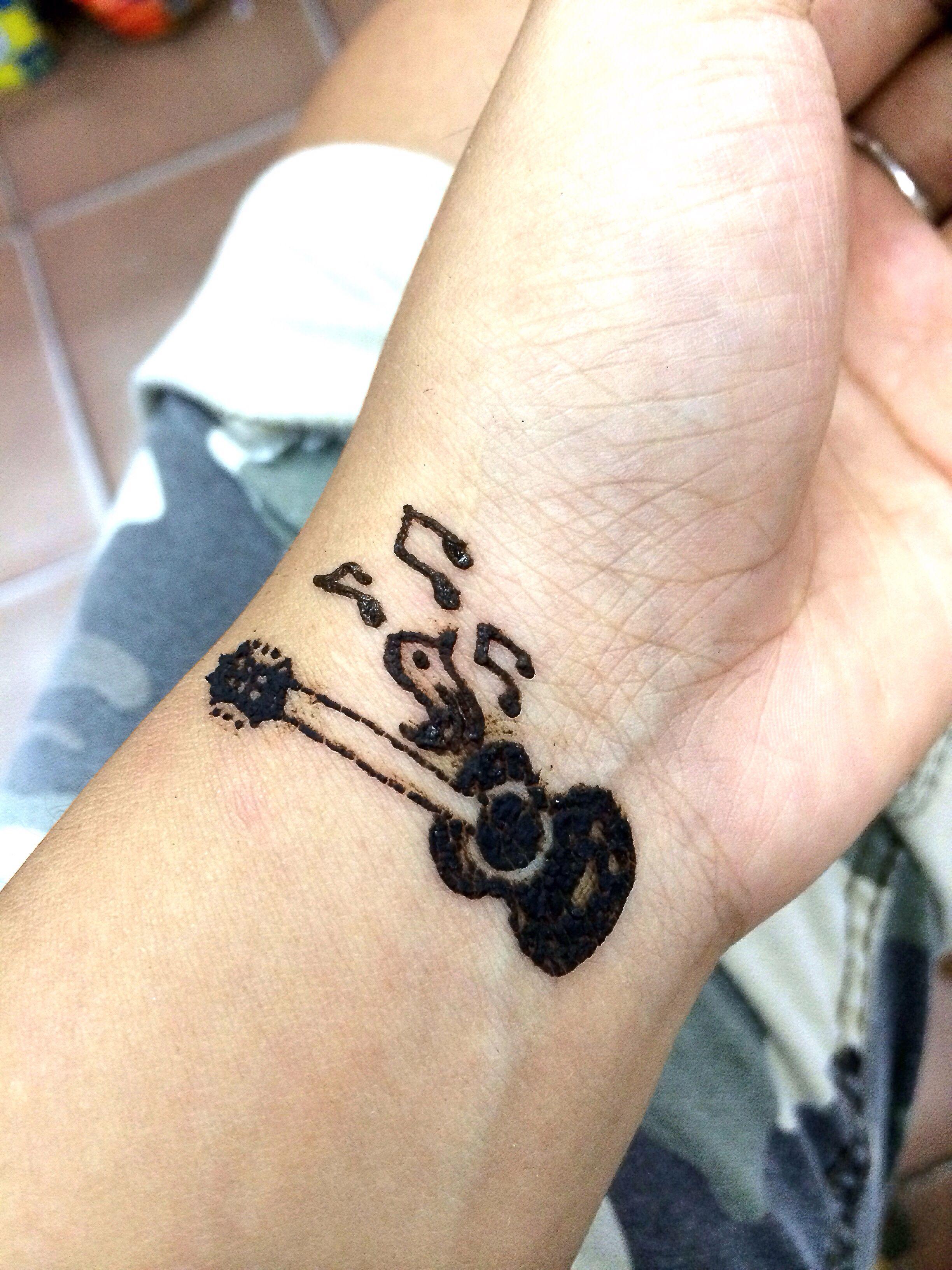 Guitar Bird Henna Henna Diy Henna Tattoos Art