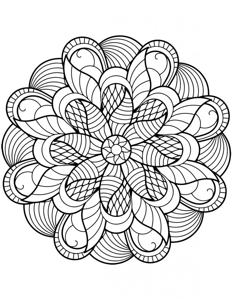 Flower Mandala Coloring Pages Gratis Tips