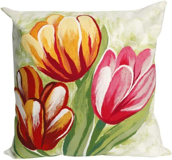 Tulip Decorative Pillow Outdoor Pillows Outdoor Cushions And Pillows Outdoor Homedecorators Com Tulip Pillow Throw Pillows Outdoor Pillows