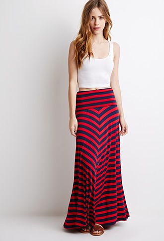 9319518ce3 Striped Fold-Over Maxi Skirt | FOREVER 21 - 2000097563 | My Classic ...