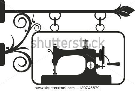 Sewing Logo | Vintage sewing machine  Vector illustration