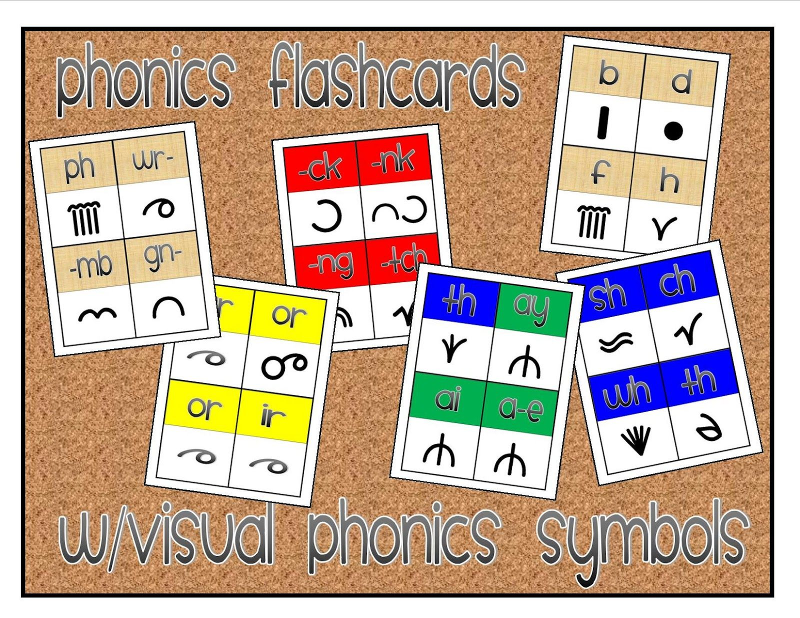 Flashcards That Include Spelling Pattern And Visual Phonics Symbol