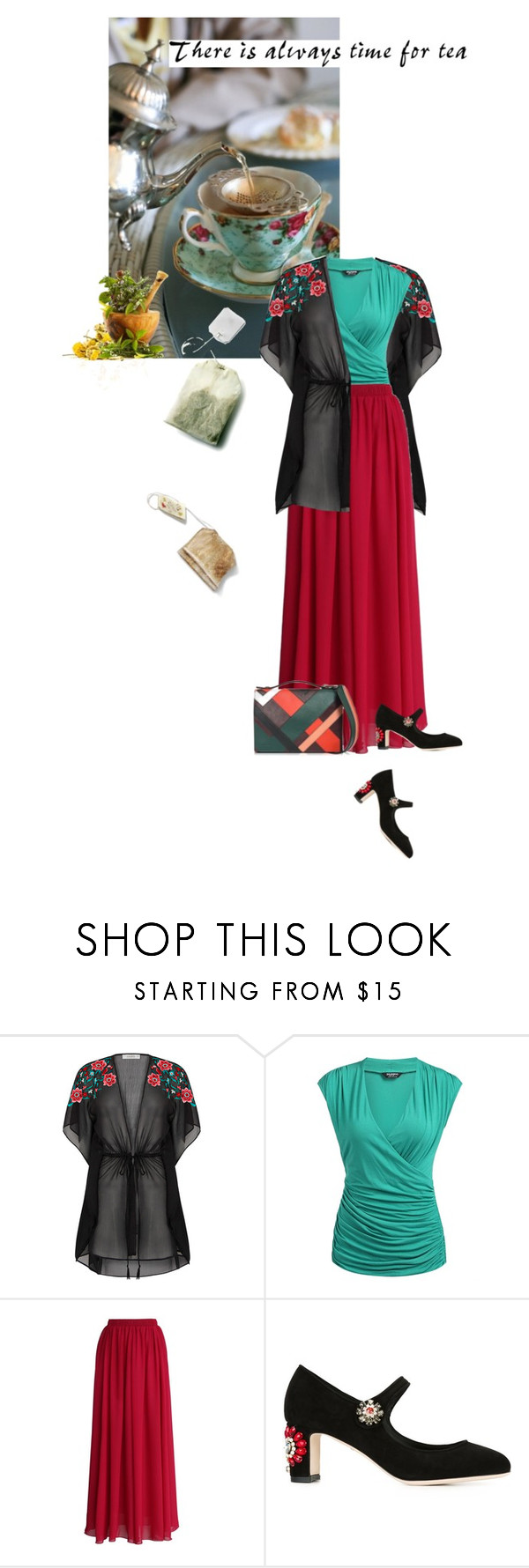 """""""There's always time for tea"""" by noconfessions ❤ liked on Polyvore featuring Chicwish, Dolce&Gabbana and Emilio Pucci"""