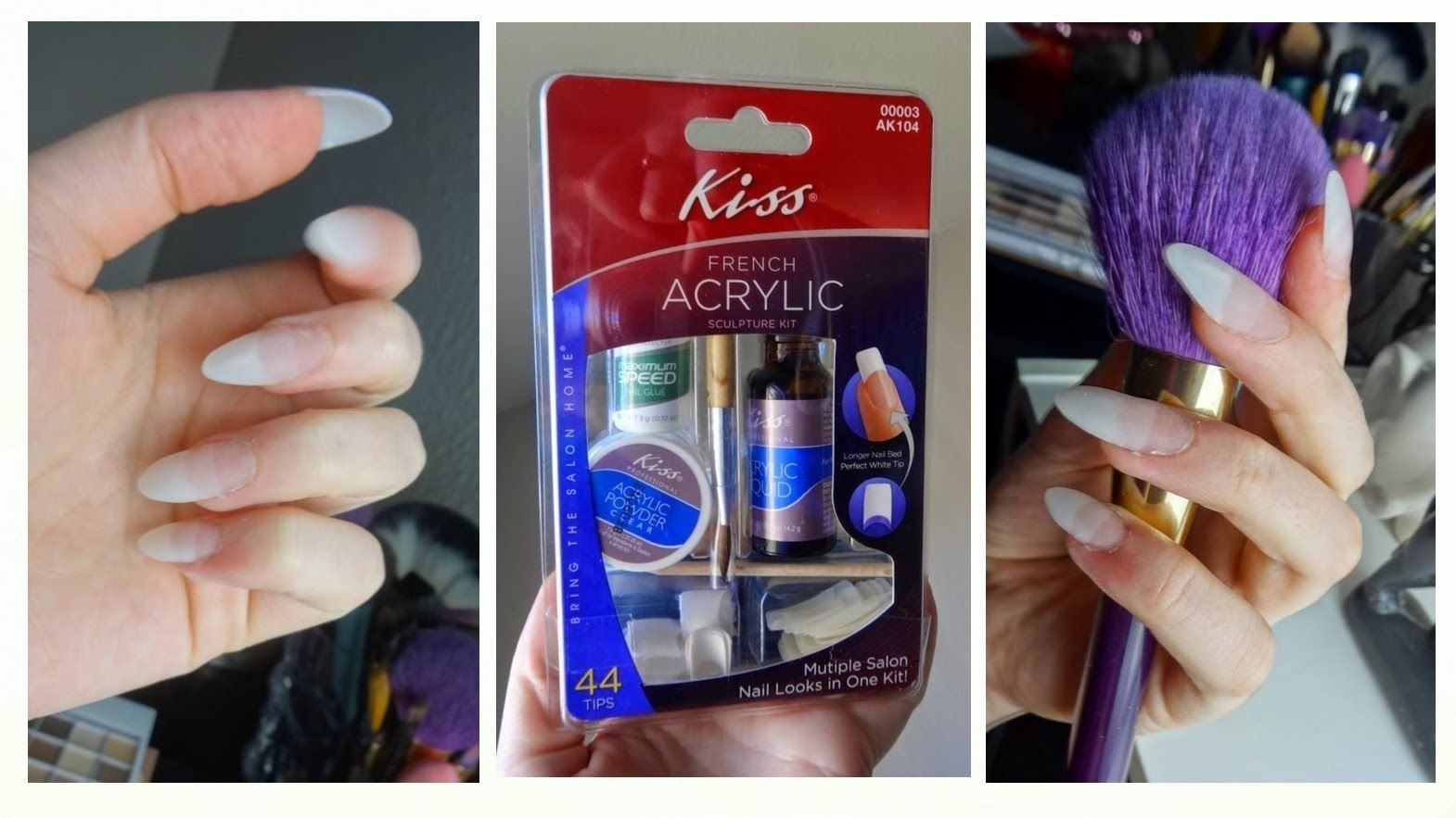 Kiss Acrylic Nail Kit Demo Tutorial Acrylic Nails At Home Diy Acrylic Nails Diy Acrylic Nails Kit