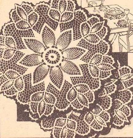 Vintage Doily Pattern American Weekly Vintage Crochet Pineapple