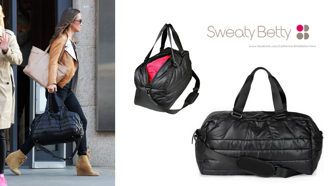 9058dbf67c55 Pippa Middleton. Sweaty Betty on-the-Go Luxe Gym Bag.