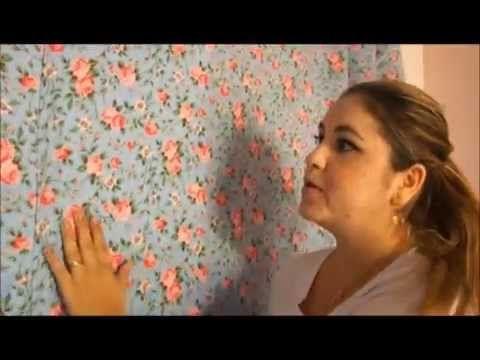 Faça você mesmo: Aplicação de tecido na parede - YouTube