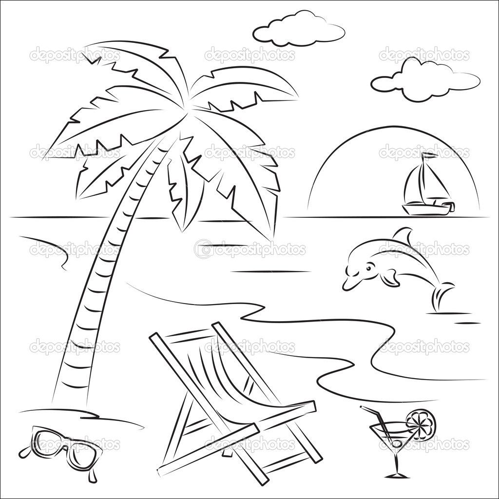 Clip Cookdiary Net Scenery Clipart Coloring 18 1024 X 1024 For Android Windows Mac And X Coloring Pages Winter Beach Coloring Pages Summer Coloring Pages
