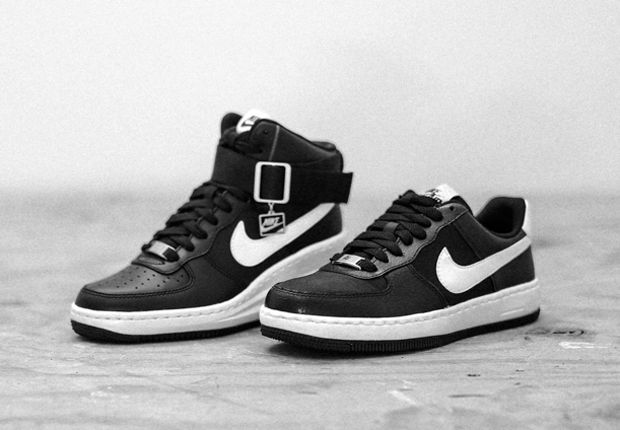Womens Nike Air Force 1 Black Black Ultra Force Trainers Increased Within