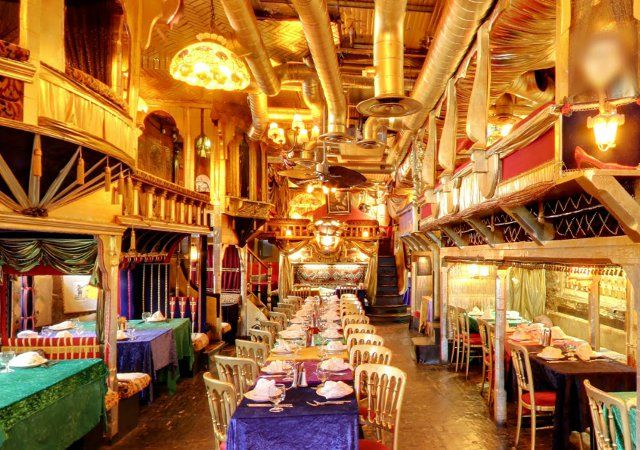 Surely one of the world's most unique themed restaurants, Sarastro (London) takes its design cues from old Victorian curiosity shops.