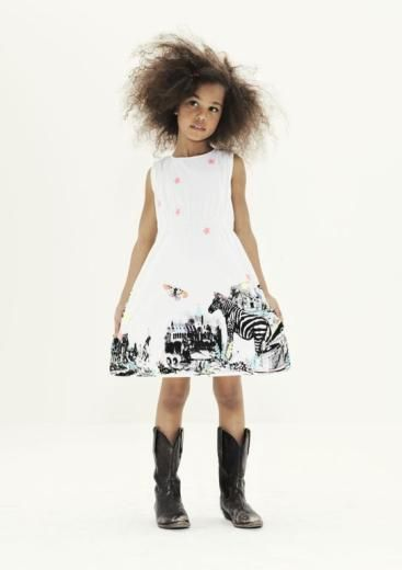 MOLO KIDS clary zebra dress