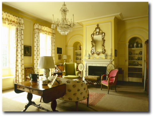 Country life images english interiors regency decorating - Federal style interior paint colors ...
