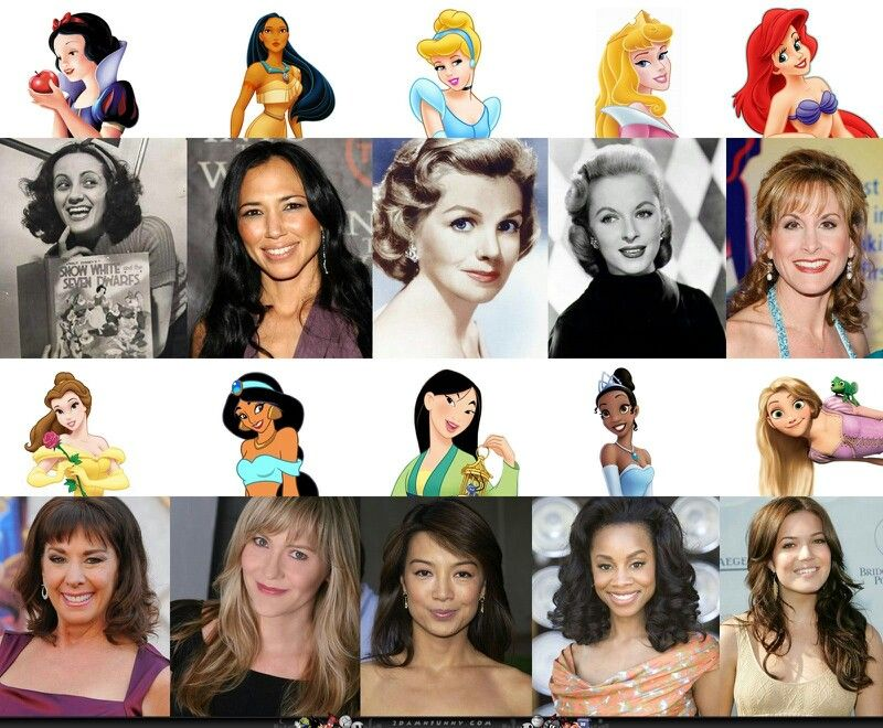 The voices behind the princesses
