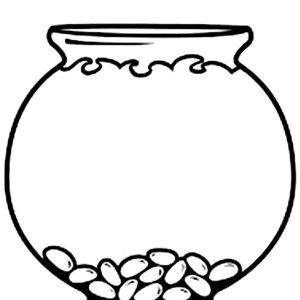 Empty Fish Bowl Coloring Page Clipart Best Summer School