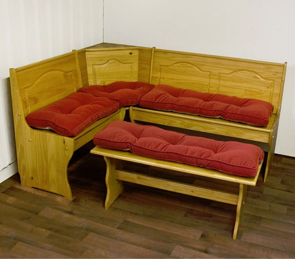 Breakfast nook cushion set red bench padding kitchen table dinette dining room
