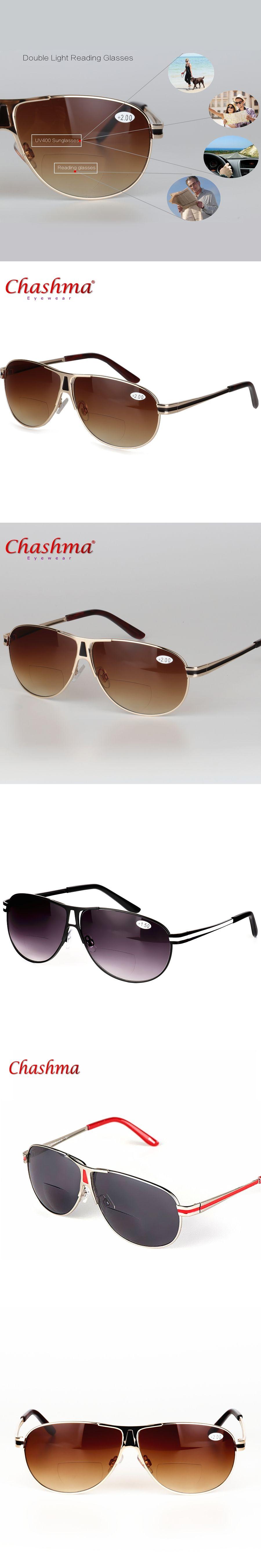 6aa341585c Bifocal Reading Glasses Unisex Diopter Glasses Male Polarized Sunglasses  Presbyopic Eyeglasses +1.0+1.5+