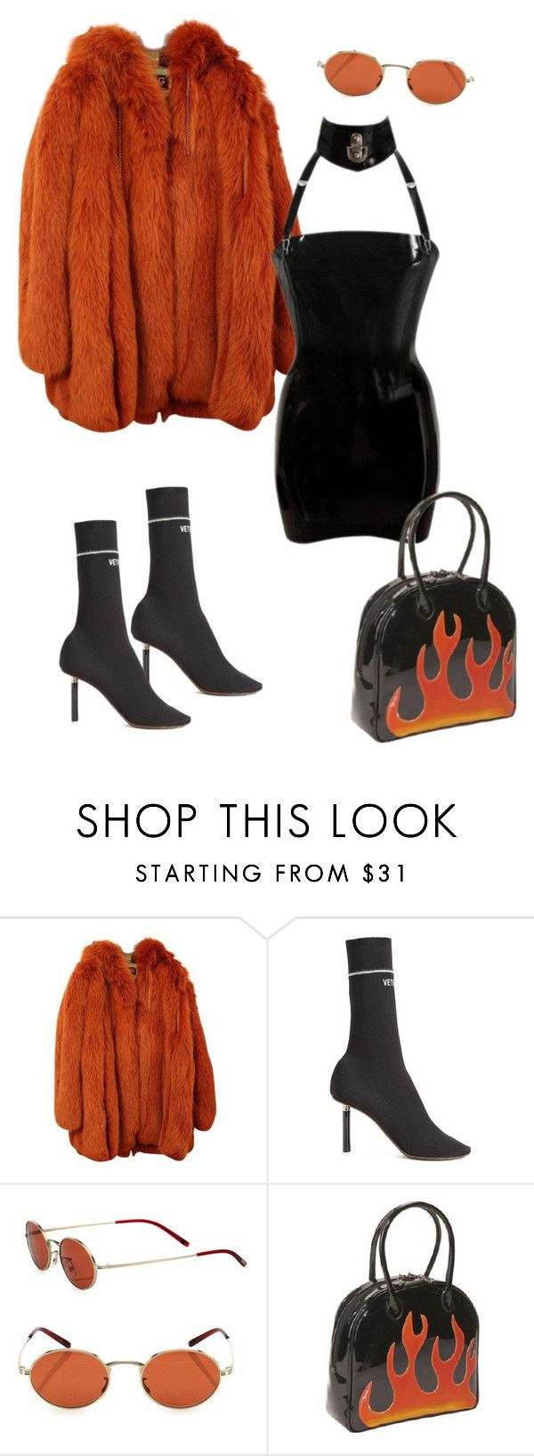 """fire 🔥"" by briannamazzola ❤ liked on Polyvore featuring Dolce&Gabbana, Vetements, Oliver Peoples and Bisadora"
